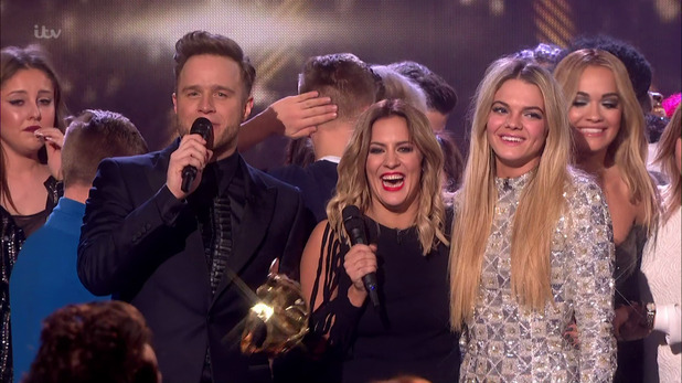 Louisa Johnson reacts as it is announced that she is the winner of the X Factor 2015 - 13 December.