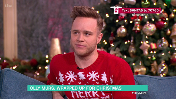 Olly Murs promoting the special edition of his album 'Never Been Better' and new book 'On The Road', on 'This Morning'. 18 December 2015.