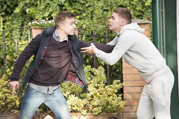 Hollyoaks, Ste argues with Harry, Wed 16 Dec