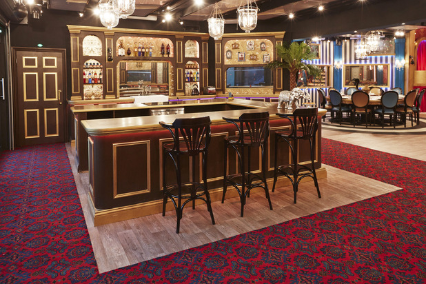 Celebrity Big Brother house series 17 ti air January 2016 - Kitchen. 18 December 2015.