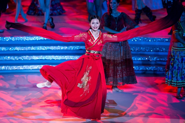 Miss World China, Lu Yuan performs during the dress rehearsal a day before the Miss World Grand Final in Sanya, in southern China's Hainan province on December 18, 2015. The 65th edition of the Miss World Grand Final will kick off on December 19 in Sanya.