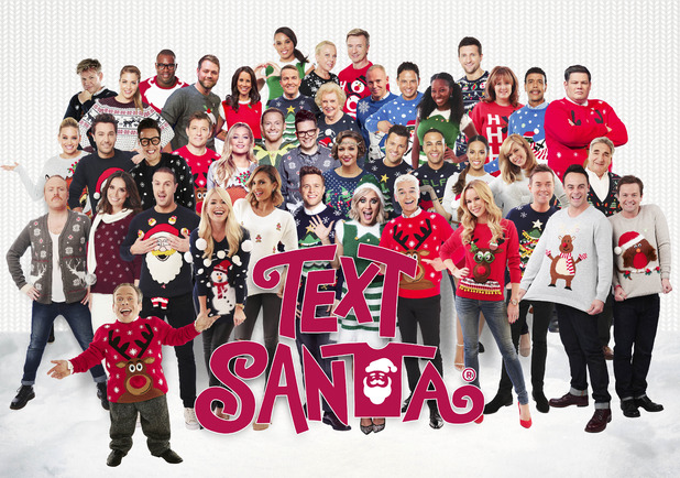 Text Santa, Christmas Jumper Day, Fri 18 Dec