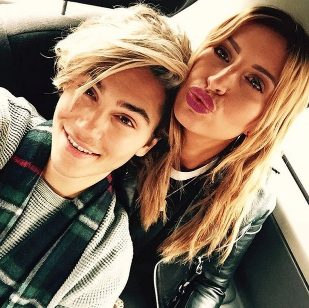 Ferne McCann and George Shelley reunite for a day out, 14th December 2015