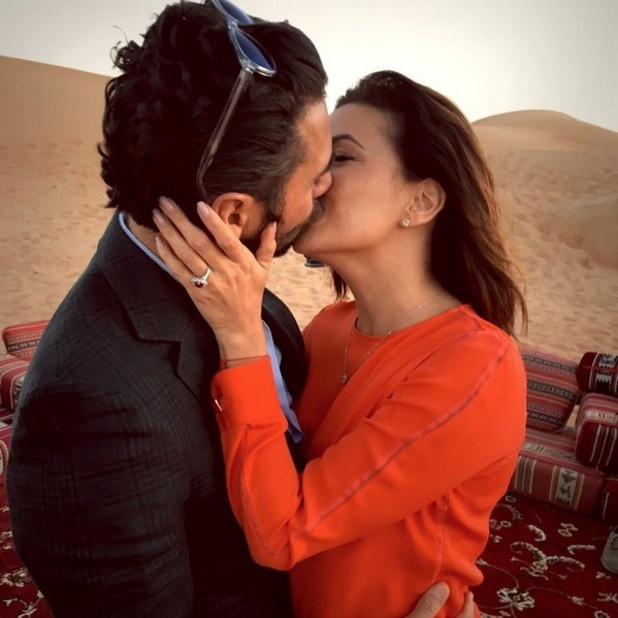 Eva Longoria and Jose Antonio Baston get engaged in Dubai. 13 December 2015.