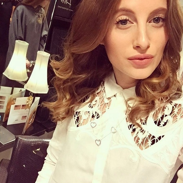 Rosie Fortescue reveals a shorter hairstyle on Instagram, 16th December 2015