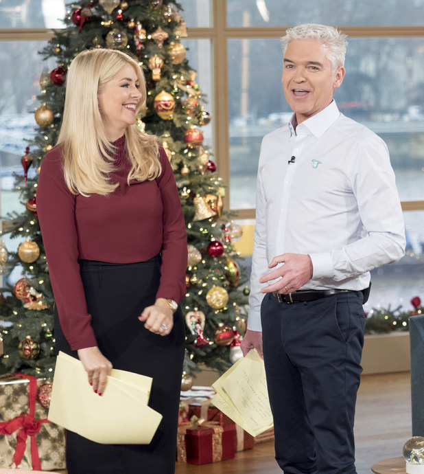 Philip Schofield and Holly Willoughby present This Morning, 14th December 2015