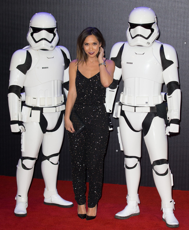 Myleene Klass arrives at The European Premiere of 'Star Wars: The Force Awakens' held at the Odeon and Vue, Leicester Square - 16th December 2015