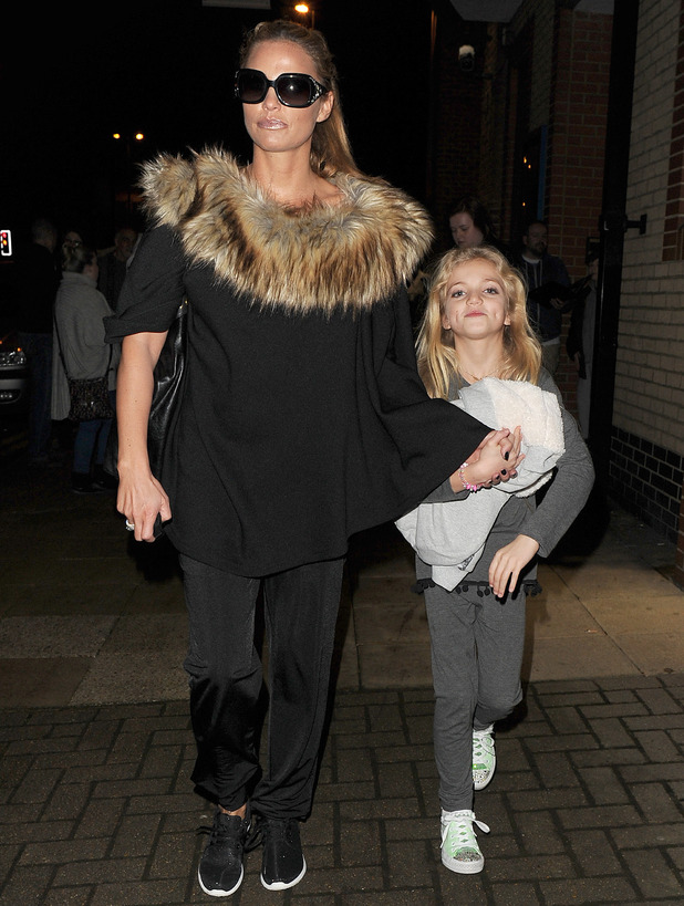 Katie Price and daughter Princess leaving The New Victoria theatre in Woking 17 December