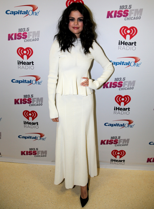 Singer Selena Gomez attends 103.5 KISS FM's Jingle Ball 2015 Presented by Capital One at Allstate Arena on December 16, 2015 in Chicago, Ill.