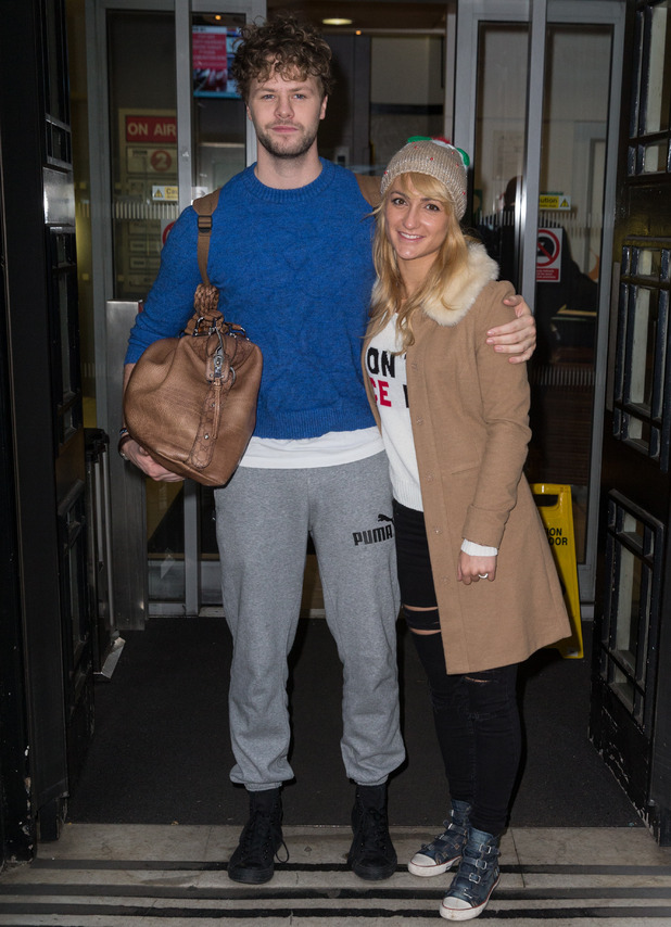 Strictly Come Dancing 2015 finalists, Jay McGuiness and Aliona Vilani pictured arriving at the Radio 2 studio, 14th December 2015