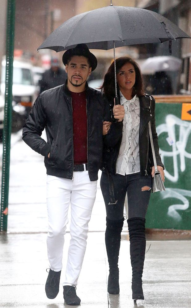 Lucy Mecklenburgh and Louis Smith out and about, New York, America - 17 Dec 2015