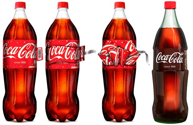 Coca-Cola Bottles for Christmas - premium glass bottle and bow bottles.