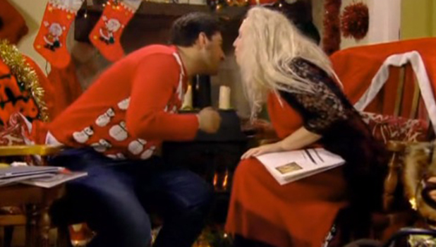 TOWIE Christmas Party, series two Debbie and Arg