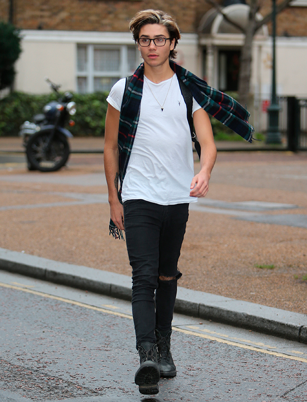 George Shelley outside ITV Studios 15 Dec 2015
