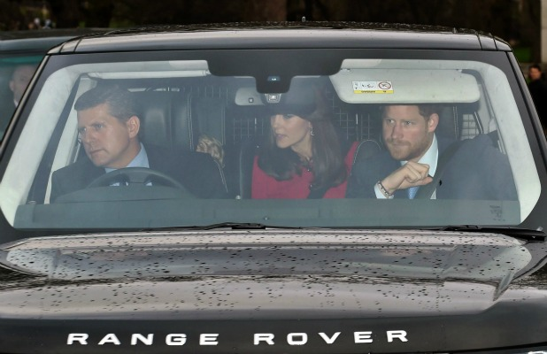 Royal family Christmas lunch, Buckingham Palace, London, Britain - 16 Dec 2015 Prince George, Prince Harry