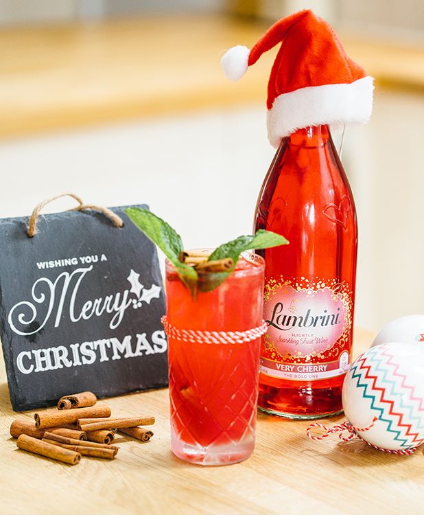 Cherry Christmas Cocktail Recipe from Lambrini
