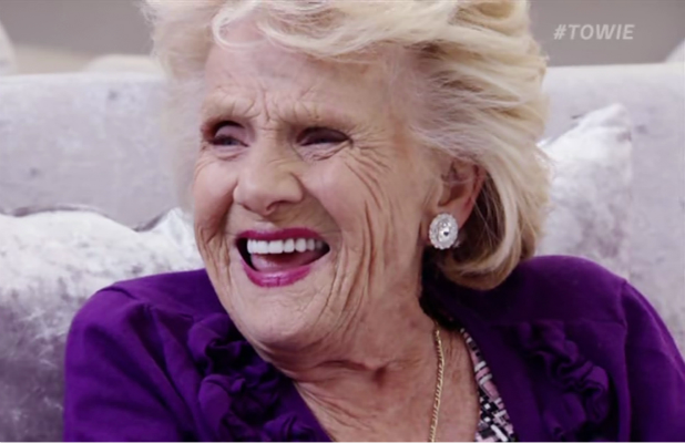 Nanny Pat on 'The Only Way Is Essex'. Broadcast on ITVBe.