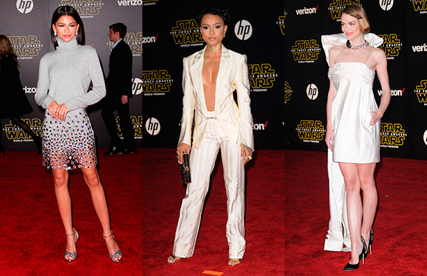 Zendaya Coleman Karrueche Tran Jaime KingPremiere of Walt Disney Pictures' and Lucasfilm's 'Star Wars: The Force Awakens', sponsored by Dodge, at the Dolby Theatre, TCL Chinese Theatre and El Capitan Theatre on December 14, 2015 in Hollywood, California.