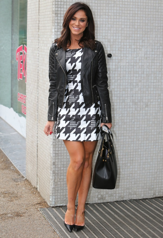 Vicky Pattison outside ITV Studios, 16 Dec 2015