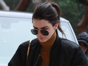 Kendall Jenner wearing Yeezus jacket out and about in Los Angeles, 23rd December 2015
