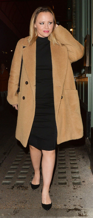 Kimberley Walsh outside Sexy Fish restaurant in Mayfair, London, 22nd December 2015