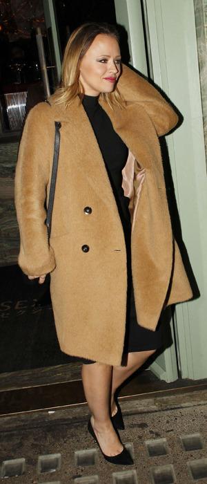 Girls Aloud star Kimberley Walsh outside Sexy Fish restaurant in Mayfair, London, 22nd December 2015