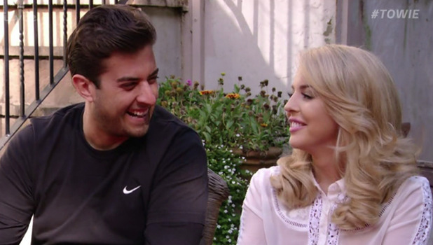 James 'Arg' Argent and Lydia Bright on 'The Only Way Is Essex'. Broadcast on ITVBe.