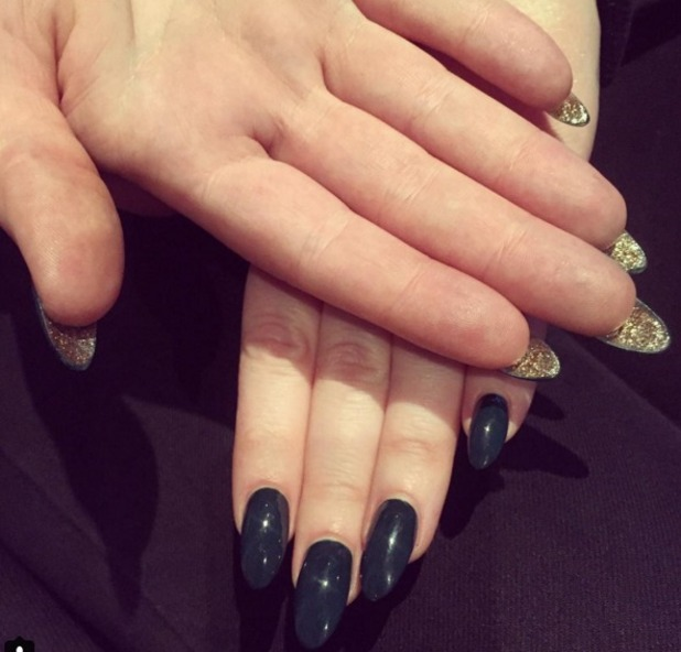 Adele's reverse-glitter nails, by Jenny Longworth, 22 December 2015