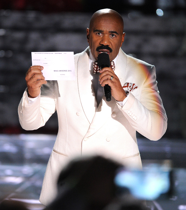 Host Steve Harvey wrongly reads out the winner - 64th Annual Miss Universe Pageant, Las Vegas, America - 20 Dec 2015
