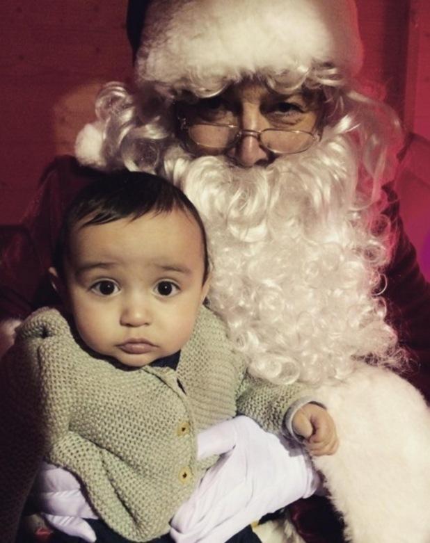 Jodi Albert's son Zekey and Santa Claus 22 December