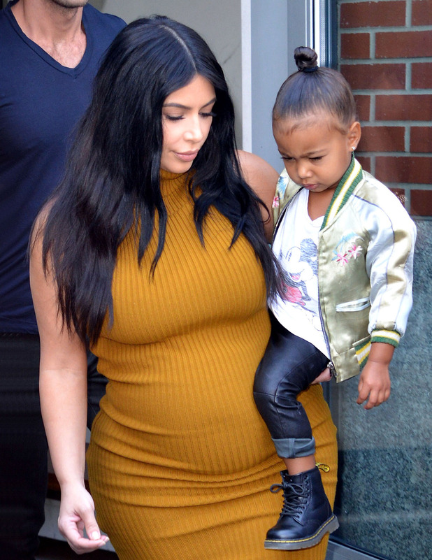 North West and Kim Kardashian out and about in New York. 21st December 2015