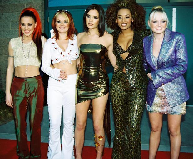 The Spice Girls - Geri Halliwell, Emma Bunton, Mel C, Mel B, Victoria  Beckham, at 1997 Billboard Music Awards held at the MGM Grand Las Vegas. 08/12/97
