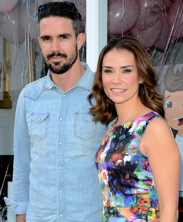 Kevin Pietersen and Jessica Taylor, hair salon launch, 2014