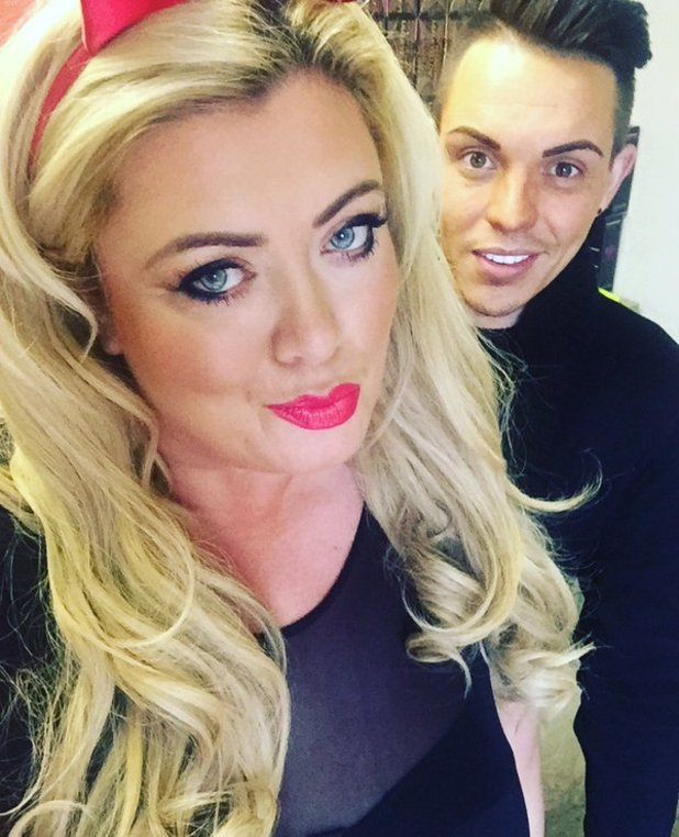 TOWIE: Bobby and Gemma selfie ahead of Essexmas filming. 24 November 2015.
