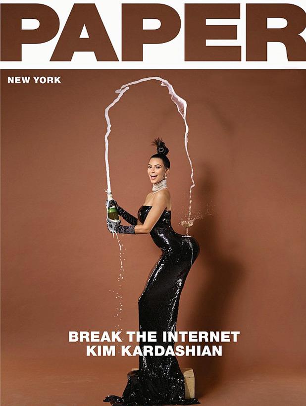 Kim Kardashian's Paper mag cover - November 2014.