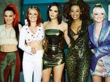 The Spice Girls - Geri Halliwell, Emma Bunton, Mel C, Mel B, Victoria  Beckham, at 1997 Billboard Music Awards held at the MGM Grand Las Vegas. 08/12/97