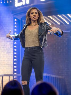 Alesha Dixon on Lip Sync Battle UK. 8 January 2016.