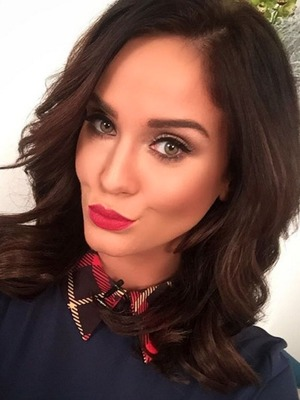 Vicky Pattison, glammed up by make-up artist Mikey Phillips for Loose Women debut, 6 January 2015