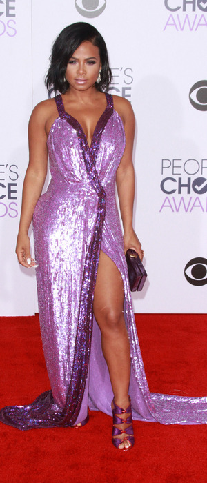 Christina Milian Turned Up star Christina Milian on the red carpet at the People's Choice Awards in L.A, 7th January 2016