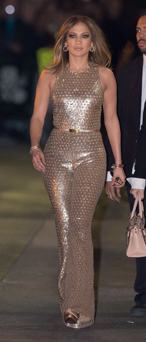 Jennifer Lopez arrives at the Jimmy Kimmel Live! show in New York 4th January 2016