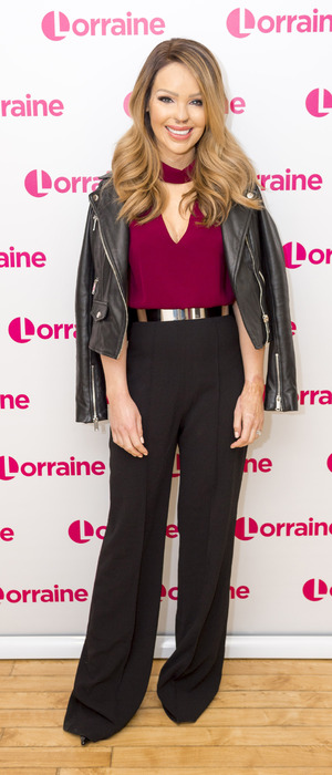 Katie Piper poses at ITV HQ, ready for a talk with Lorraine, London 6th January 2016