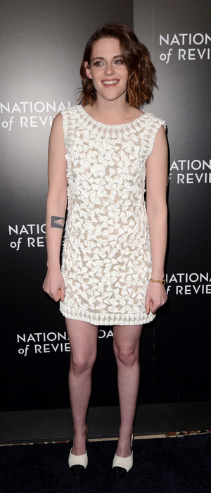 Kristen Stewart wears white dress to the 2016 National Board of Review Gala in New York, 6th January 2016