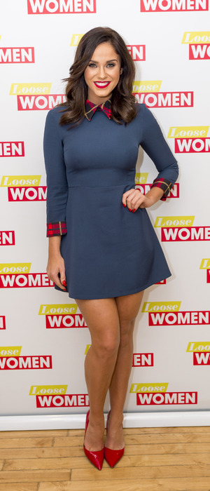 Geordie Shore's Vicky Pattison wears dress from own collection for Loose Women debut, London, 6th January 2016