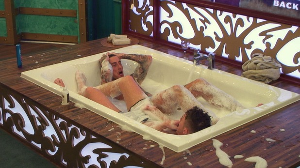 CBB: Scotty and Jeremy in the bath. 7 January 2016.