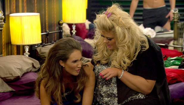 Celebrity Big Brother - Megan and Gemma in the bedroom. Broadcast on Channel 5