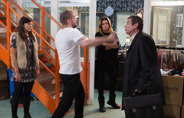 Corrie, Aidan punches Johnny, Wed 6 Jan