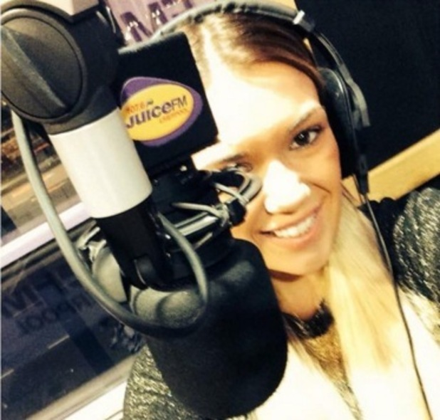 Imogen Townley poses at Juice FM, Liverpool 8 January