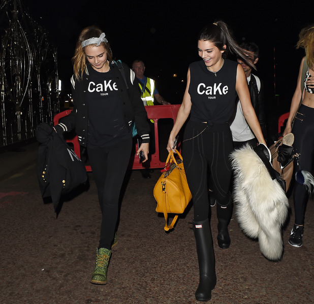 Kendall Jenner and Cara Delevingne out and about in London wearing CaKe T-shirts, 5th January 2016