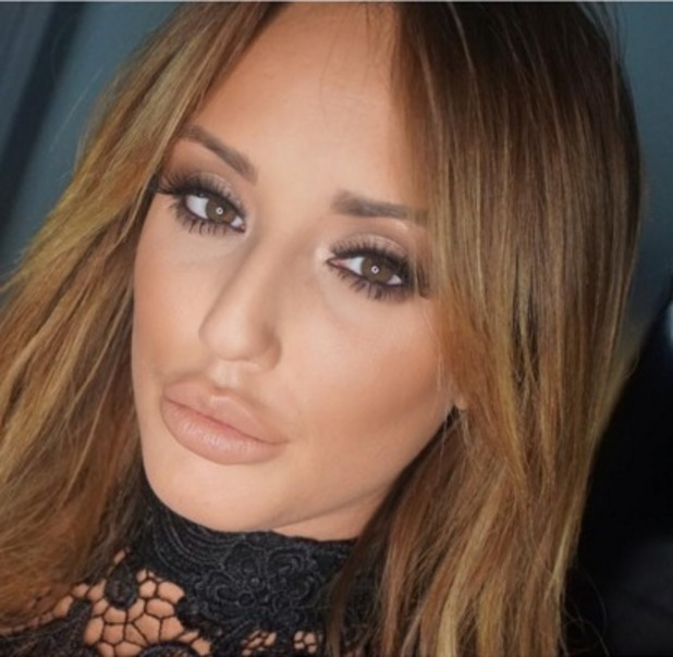 Charlotte Crosby wears nude make-up including Mac Lipstick in Honeylove, by Melissa Wharton, 7 January 2015