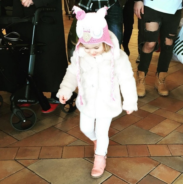 Peter Andre shares photo of daughter Amelia ahead of her second birthday, 4th January 2016